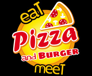 eat and meet Pizza and Burger